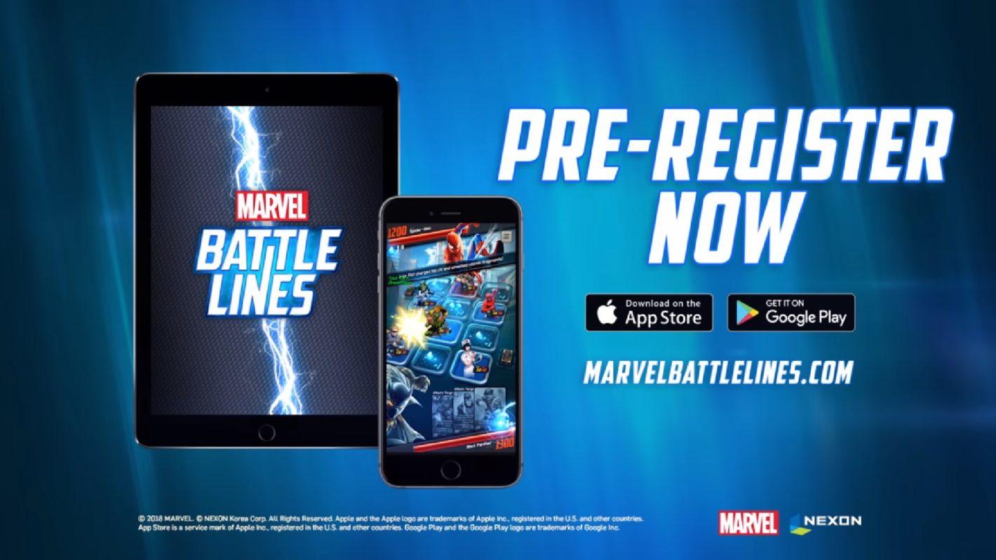 предварительная регистрация в Marvel Battle Lines