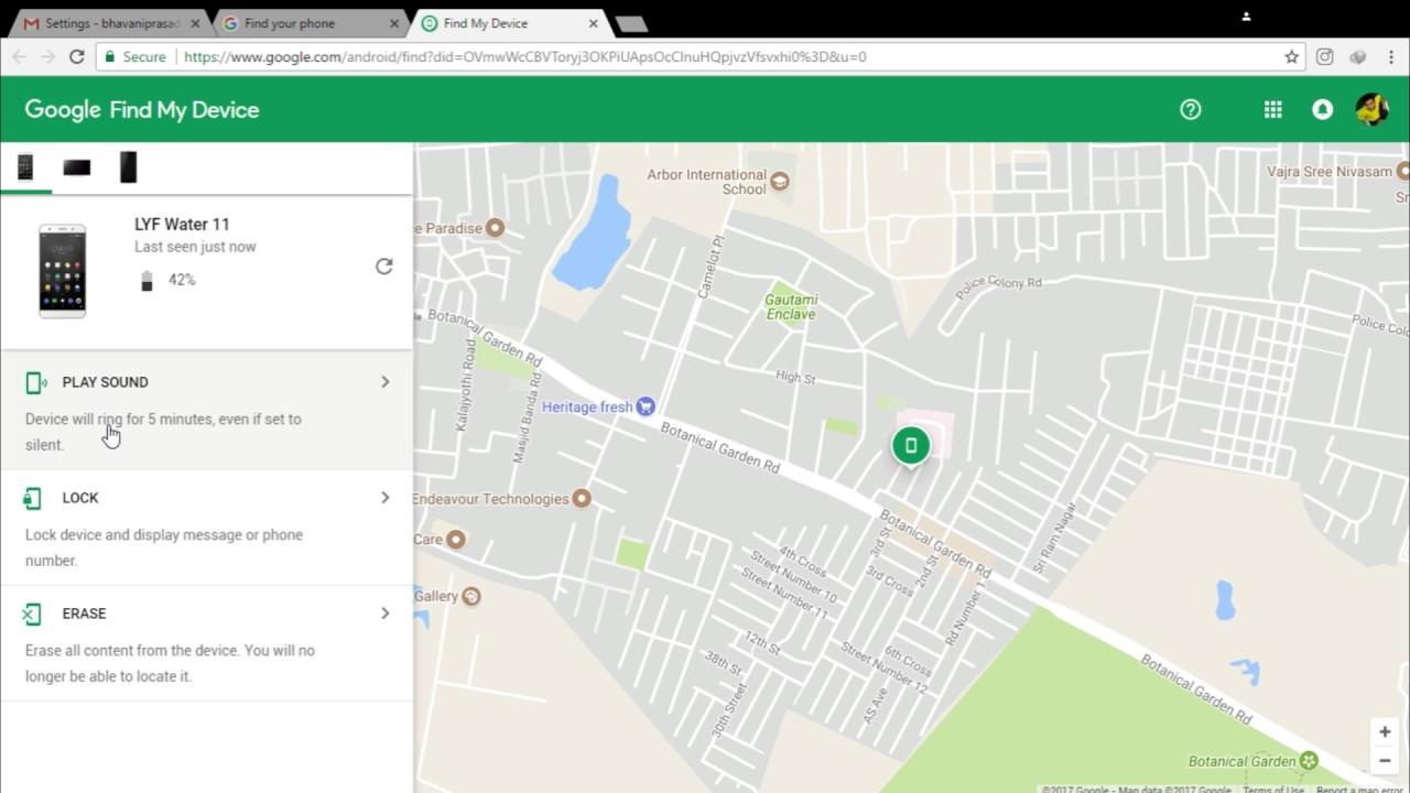 Find my device или как найти свой телефон