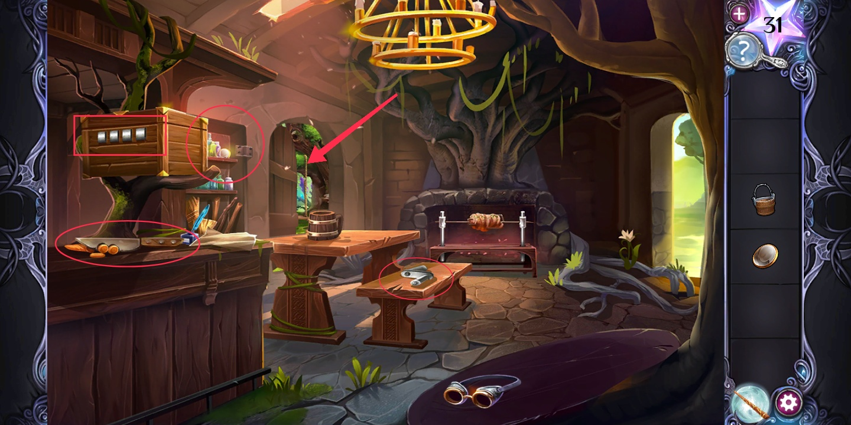 Прохождение AE Mysteries Cursed Crown третья глава шаг 11