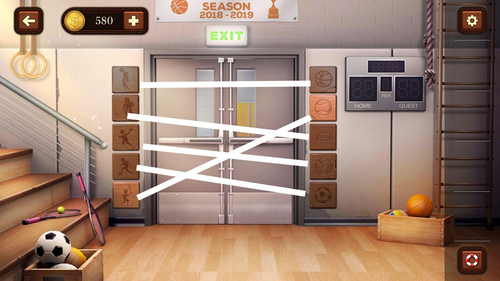 Прохождение 100 Дверей - Побег из комнаты Уровень 7