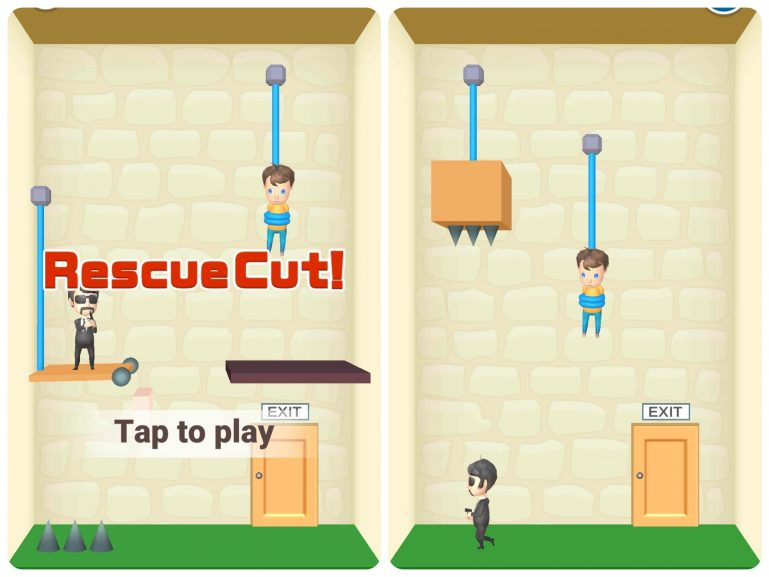 Прохождение Rescue Cut - Rope Puzzle