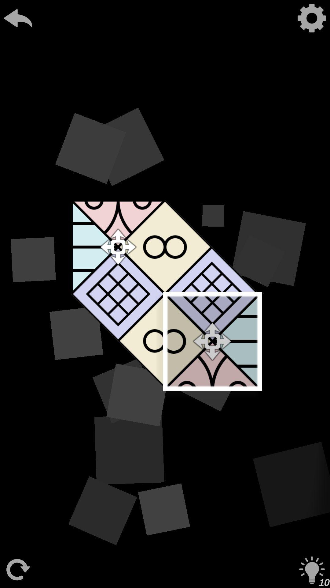2 уровень AuroraBound - игра с узорами