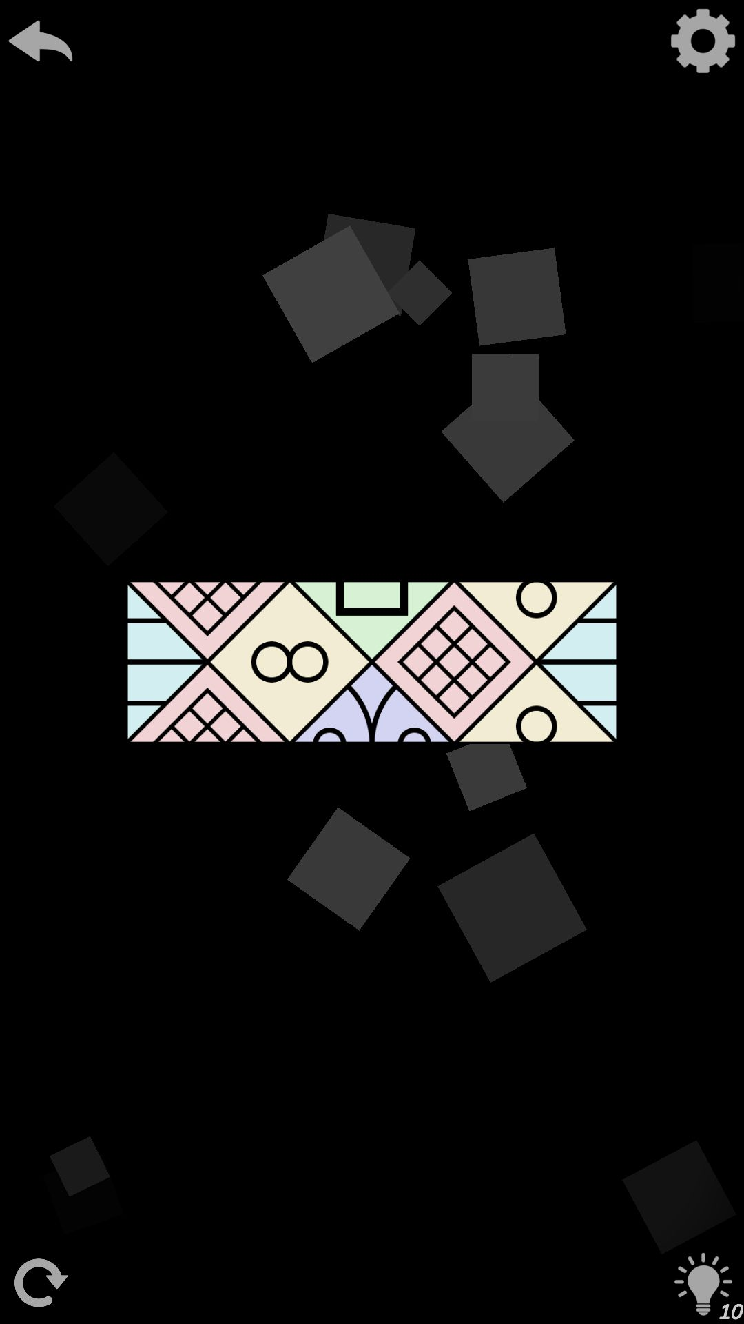 3 уровень AuroraBound - игра с узорами