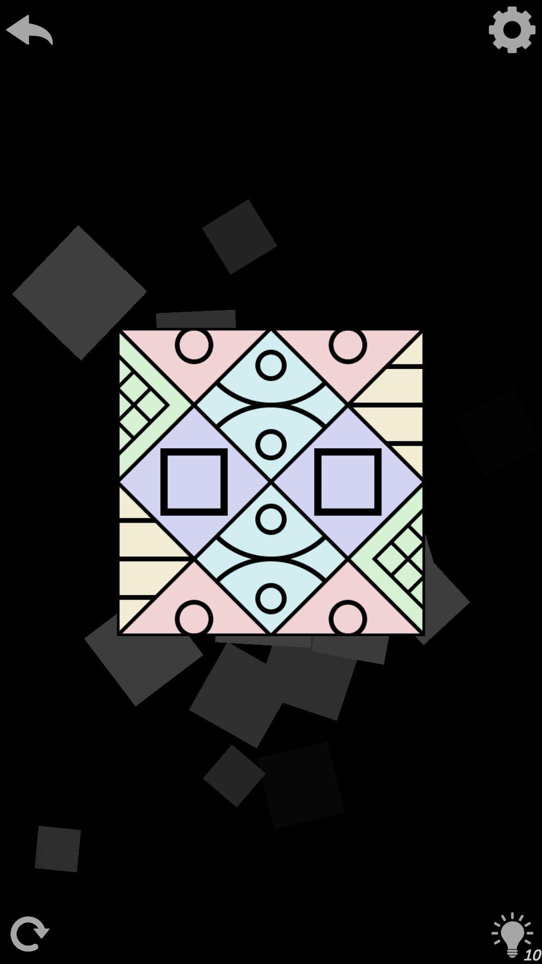 5 уровень AuroraBound - игра с узорами