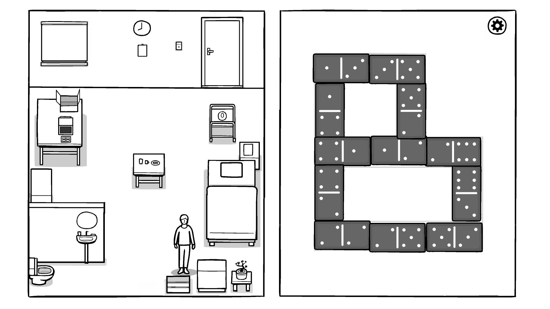 Прохождение Головоломки с домино в игре The White Door